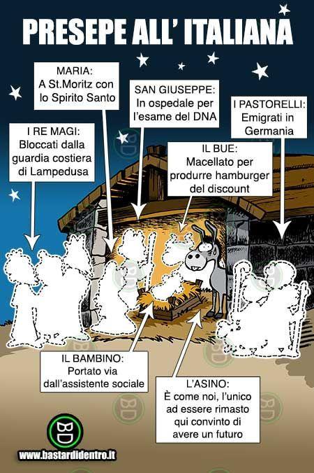 Presepe all'italiana  Questo Natale è decisamente più economico  fare il presepe piuttosto che l'albero...