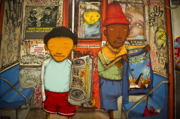 Algumas instalações d'Os Gêmeos no Instituto de Arte Contemporânea de Boston. #StreetArt #Boston