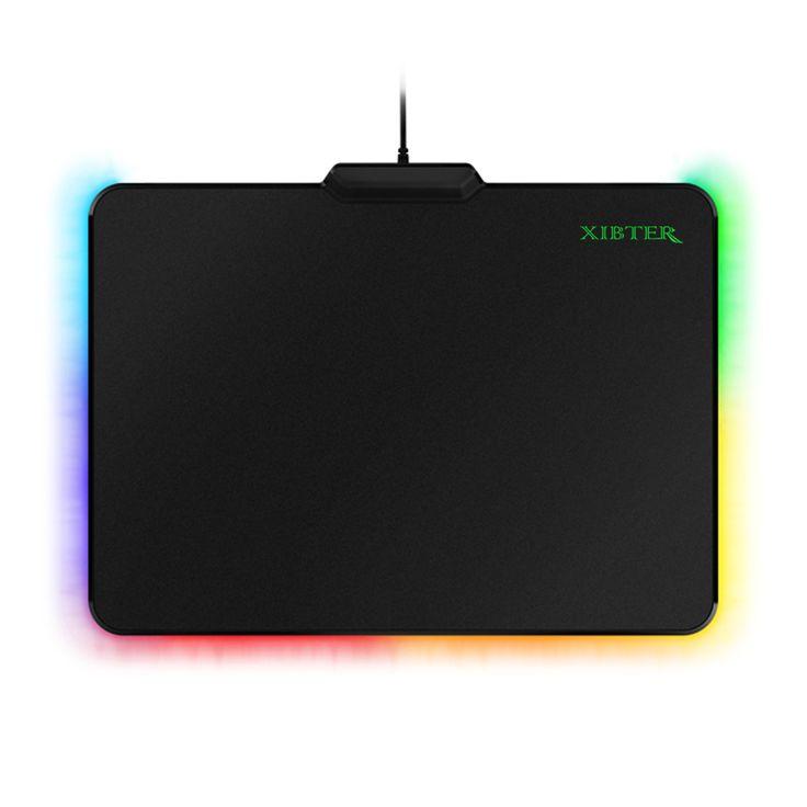 Envío libre firefly duro gaming mouse pads esteras, jack usb, iluminación mousepad para pc ordenador croma overwatch cs ir