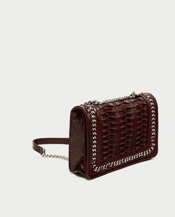 CROSSBODY BAG WITH LEATHER AND CHAIN STRAP from Zara