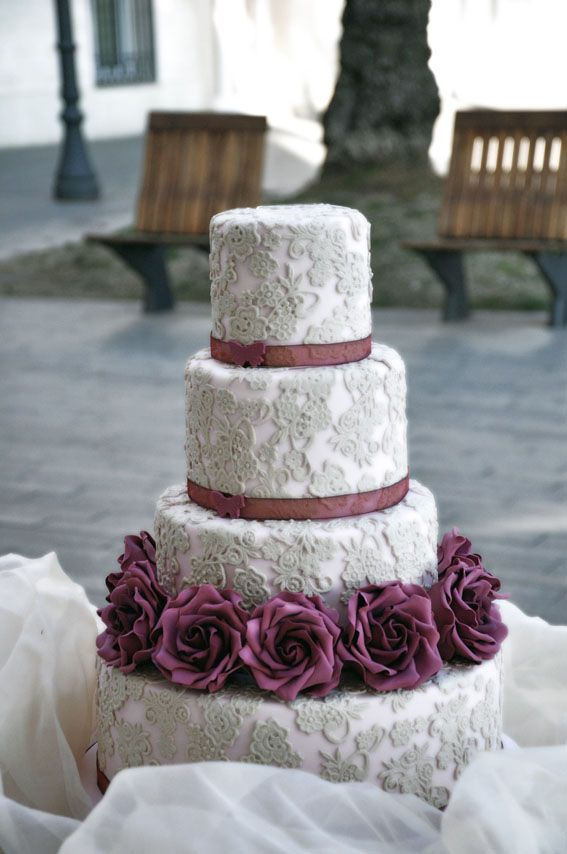 Hall Stand Designs : Tarta de boda fondant tartas pinterest vintage