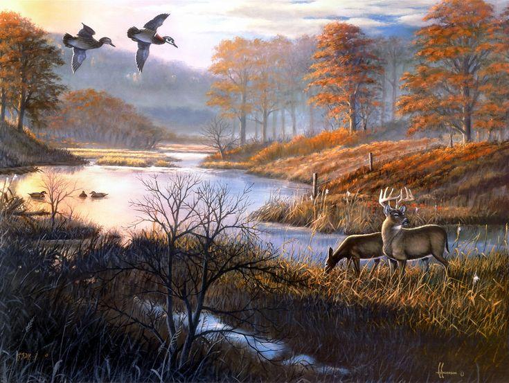 Duck Pond Woodies by Arthur G. Anderson | Wildlife Art ...