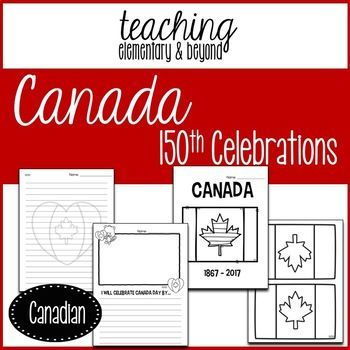 Canada 150th and Canada Day Celebrations provides crafts, activities and decorations as well as literacy activities for your students to celebrate Canada's 150th birthday!