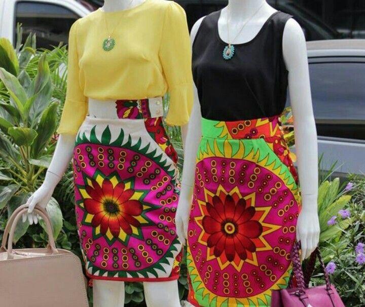 Colorful paruma skirts