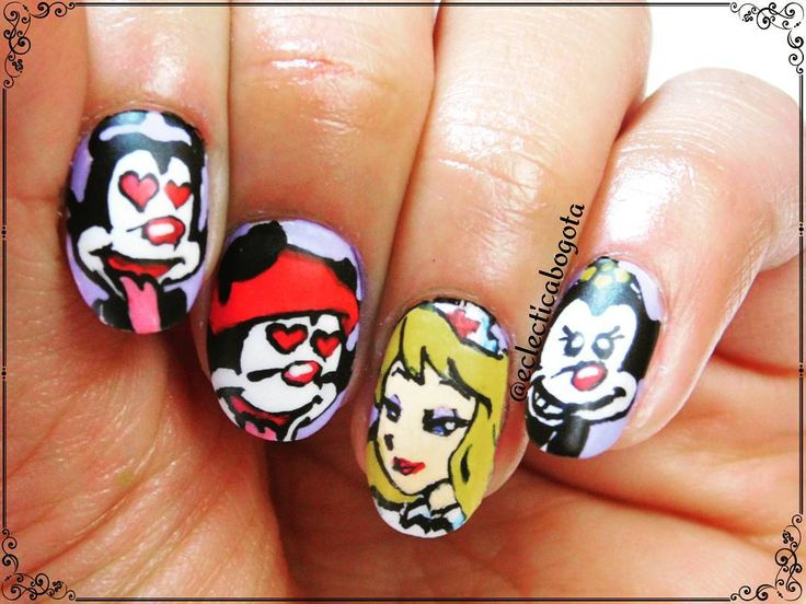 animaniacs nailart and cartoon network by eclectica