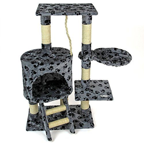 buy now   £50.00  This offer is for a New Cat Activity Centre with scratching posts, platforms, sleeping cave, resting pouch and a rope. Everything you need for a happy and  ...Read More