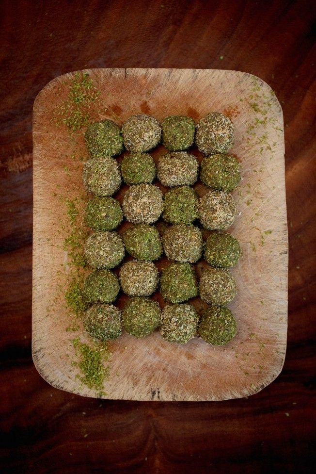 Detox Matcha Protein Balls | The Healthy Chef