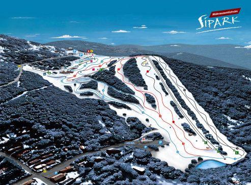 Mátraszentistván sípark - hóágyúzott sípályák és korszerű síliftek a Mátrában