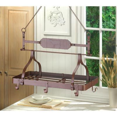 Country Cow Kitchen Pot Rack Hanging Kitchen Decor