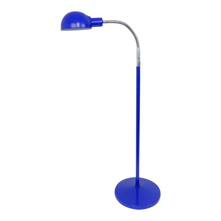 Mid-Century Modern Chrome & Ink Blue Floor Lamp - Image 1 of 11