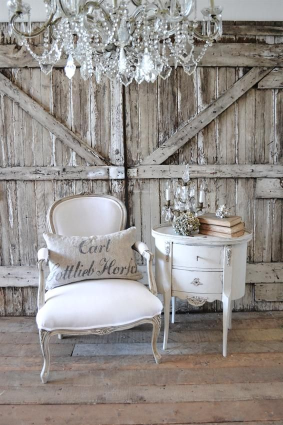 Antique French Open Arm Chair from Full Bloom Cottage