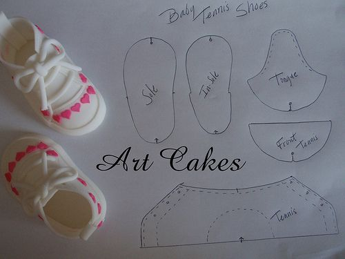 Baby Tennis Shoes Template