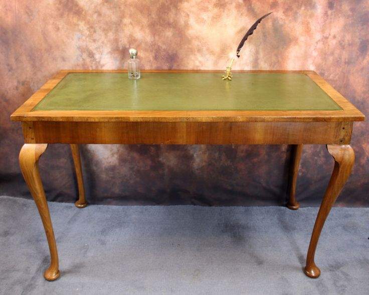 A Vintage / Antique Writing Desk with Leather by bespokebydionne