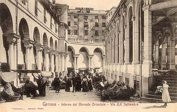 GENOVA - Mercato Orientale - FOTO STORICHE CARTOLINE ANTICHE E RICORDI DELLA LIGURIA