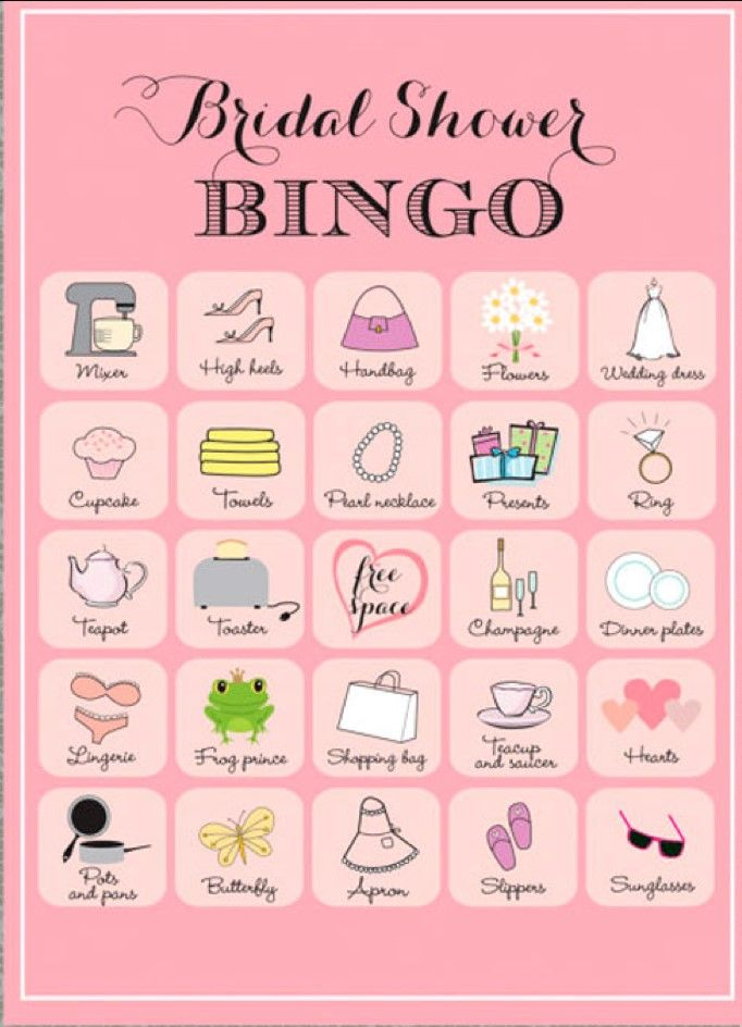 Bingo for every occasion - play bingo at your party or bridal shower!