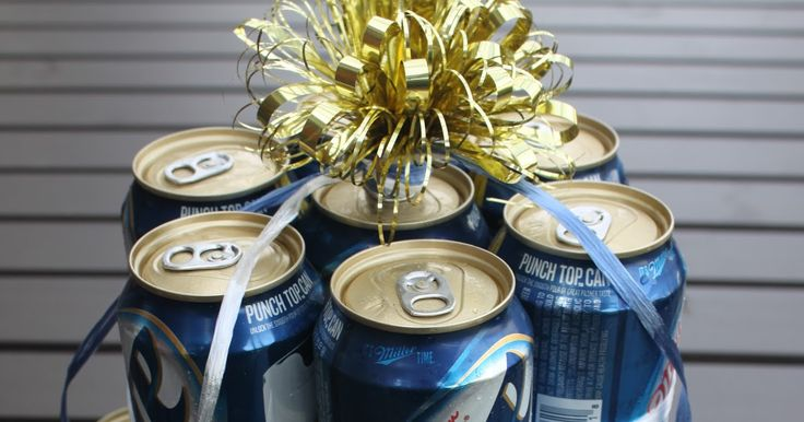A Beer Can Cake is a fun adult party gift for your beer lovin' friends.  You can make it as simple or intricate as you desire or as smal...