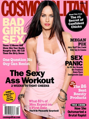 Throwback! Megan's first Cosmo cover in October 2009. #MeganFox