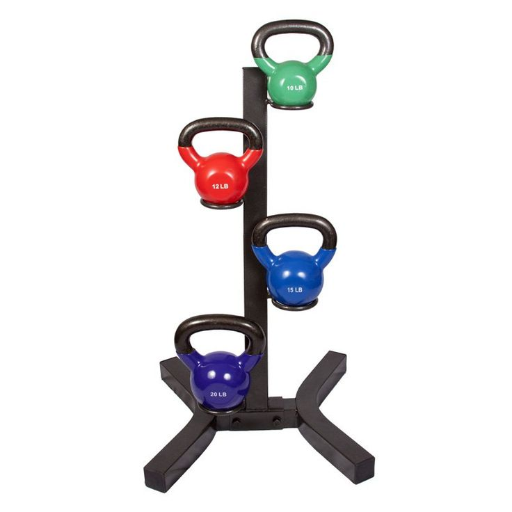 j/fit Kettlebell Rack with Set of 4 Kettlebells | from hayneedle.com