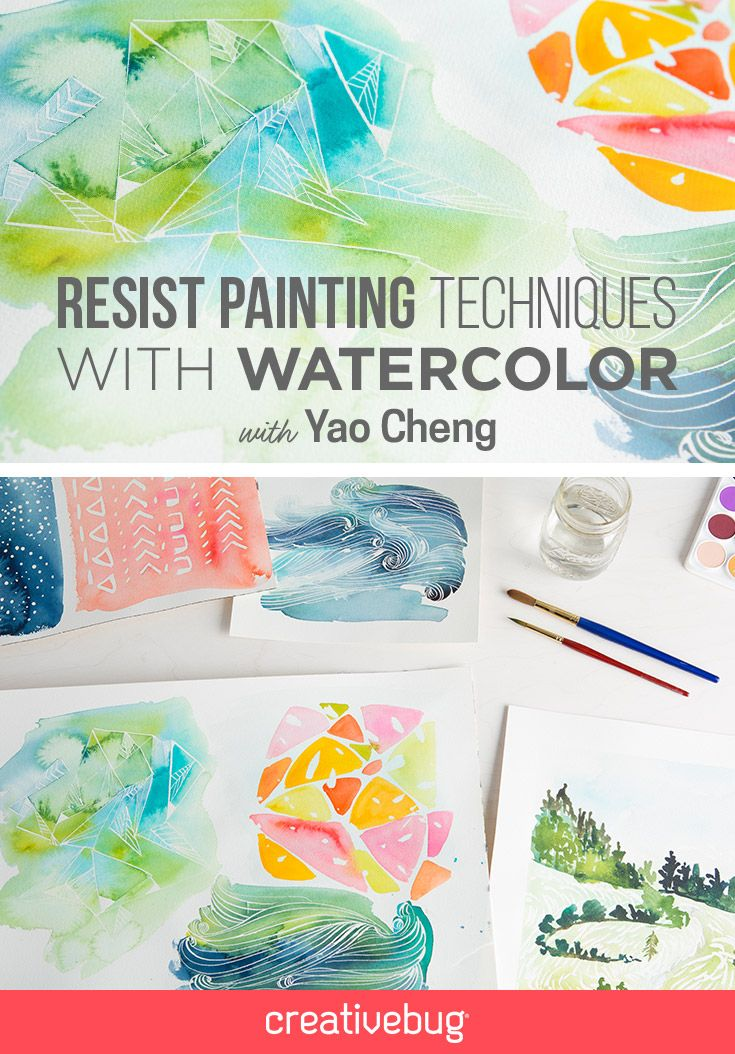 Explore the versatility of masking fluid with watercolor artist Yao Cheng. Yao demonstrates a number of ways you can use resist techniques with watercolor, including abstract and representational patterns using brushes and a pen nib. Then she shows you how to let the watercolors flow over the masking fluid, creating gorgeous backdrops for your resist patterns.