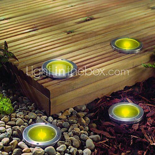 The 25 best solar powered garden lights ideas on pinterest 2 led warm yellow solar power underground landscape garden light mozeypictures Image collections