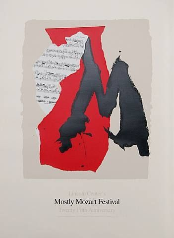 Robert Motherwell - 'Lincoln Center Mostly Mozart, 25th Anniversary', 1991