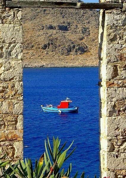 Chalki island, archipelago Dodecanese, Greece
