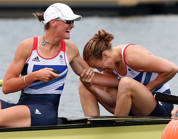 Helen Glover and Heather Stanning - pairs: gold