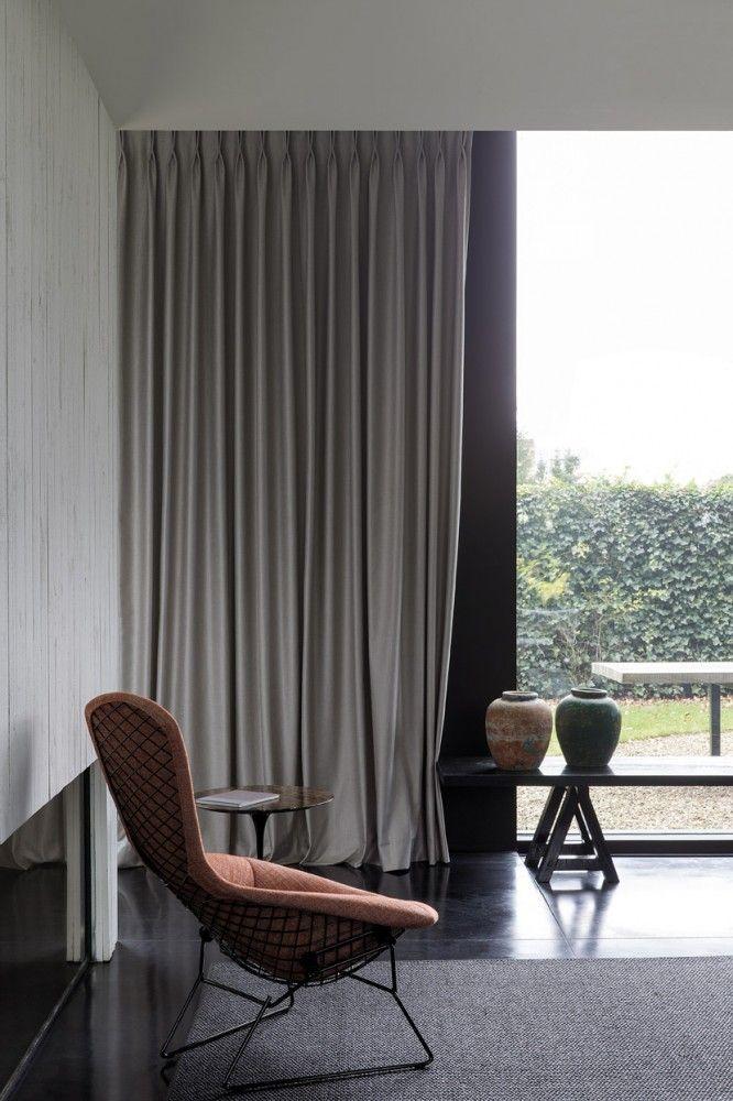 Gordijnen, overgordijnen naturel beige / rideaux / curtains