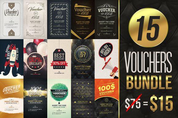 15 Vouchers Bundle [ 80% off ] by VectorMedia on @creativemarket
