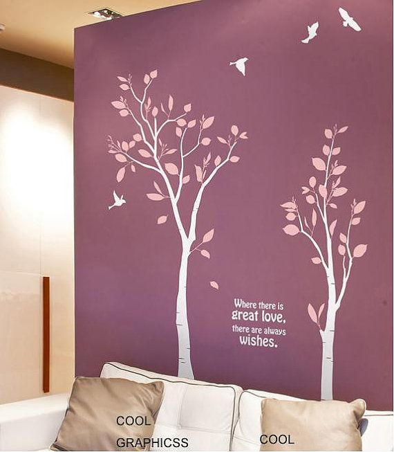 Two Love Trees  Vinyl Wall Decals Trees Sticker by coolgraphicss. , via Etsy.