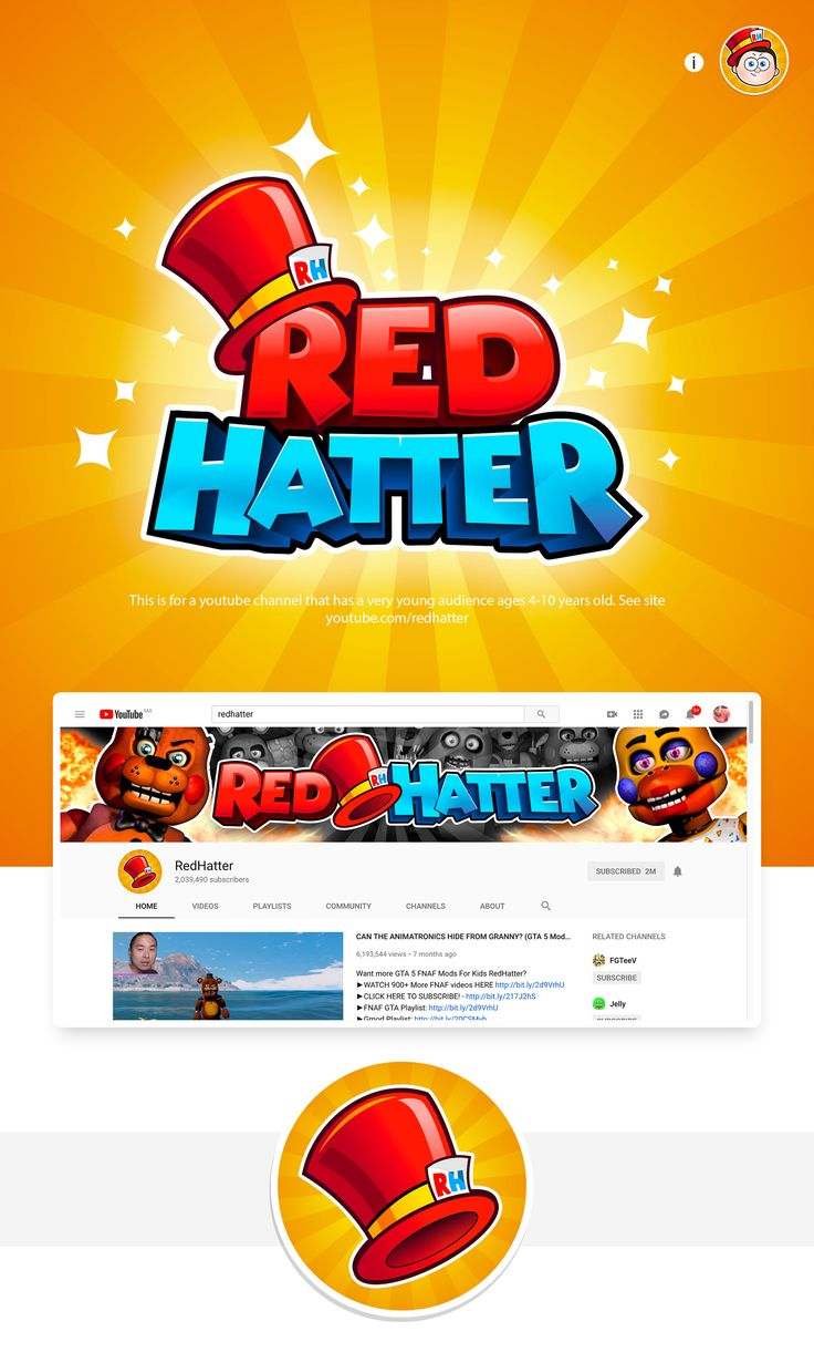 RedHatter channel rebrand on Behance Дизайн, Шрифты