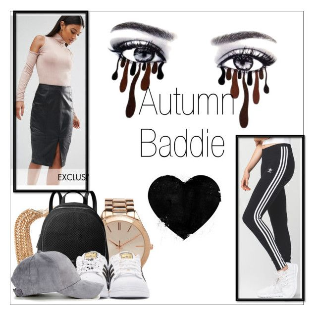 """""""autumn baddie #1"""" by kiwijulin on Polyvore featuring Aéropostale, Forever 21, MICHAEL Michael Kors, adidas Originals, Club L and adidas"""