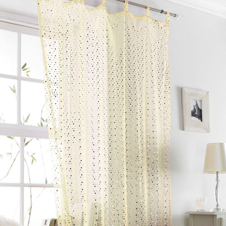 Buy Popsicle Voile Curtain Cream and Gold | Curtains | The Range