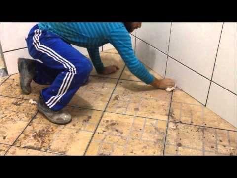 COMO LIMPAR JUNTAS COM ARGAMASSA / HOW TO CLEAN GROUT OF CERAMIC JOINTS - YouTube