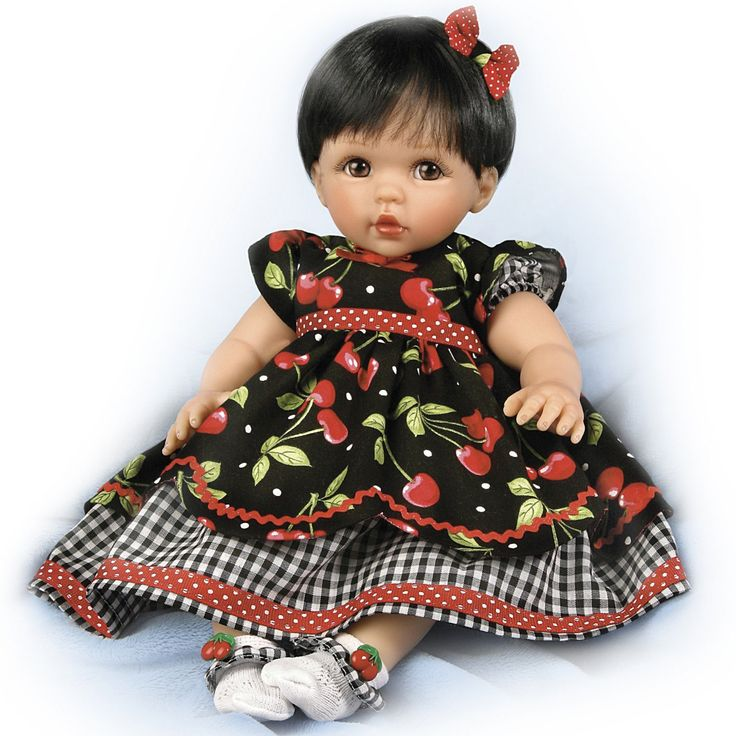 "Amazon.com - Ashton-Drake Cheryl Hill ""Sweetie Pie"" Baby Doll in Cherry Dress - By The Ashton-Drake Galleries +"