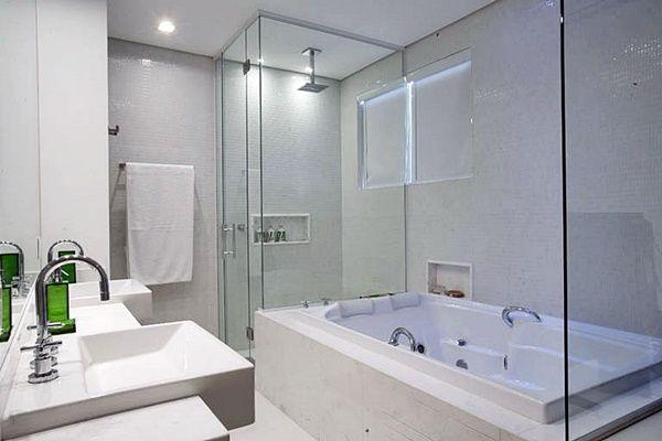 Banheiros com banheira  Simples e Pesquisa -> Banheiros Modernos Com Hidro