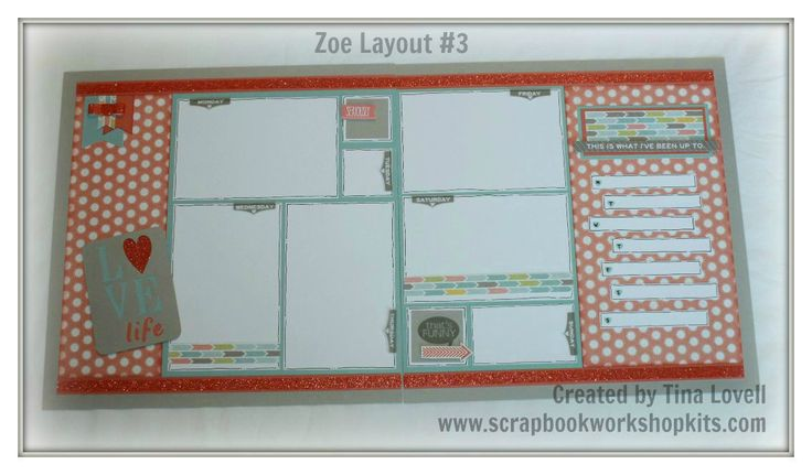 (pin 3 of 3).... layout by Tina Lovell using CTMH Zoe paper.... 6-Page Scrapbook Kit $27