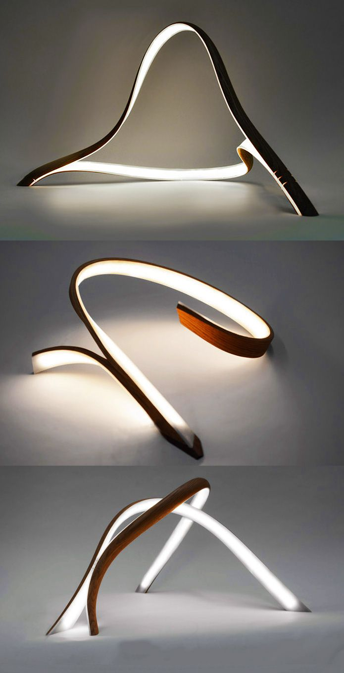 John Procario - bent oak, led strip, plexiglas