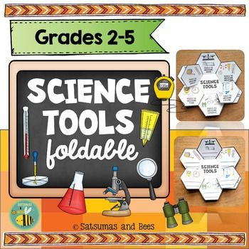 Perfect activity to introduce science tools the first days of school. This Science tools foldable will help your students review/learn about the most common scientific tools used in primary grades. Differentiated versions included.