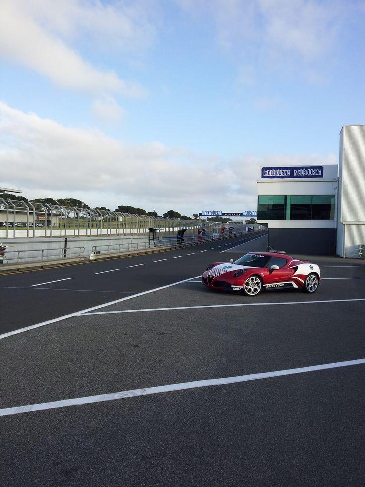 Alfa Romeo 4C Safety Car at Phillip Island Grand Prix Circuit - WSBK Race Meeting