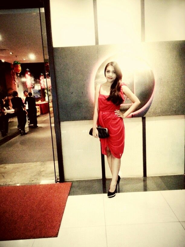Red devil look - dress by asos shoes by f21 hand made clutch jewls by mustika diamond