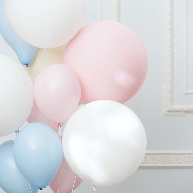 Beautiful Pastel Balloons, First Birthday Girl