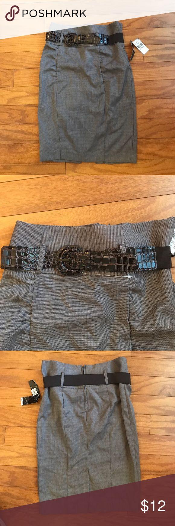 🔥SALE🔥BCX Brown Pencil Skirt BCX brown pencil skirt with faux crocodile belt! Juniors size 5! Never worn! BCX Skirts Pencil