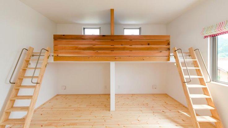 子供部屋事例:ロフト付きの子供部屋(『志和堀の家』スキップフロアのある家)