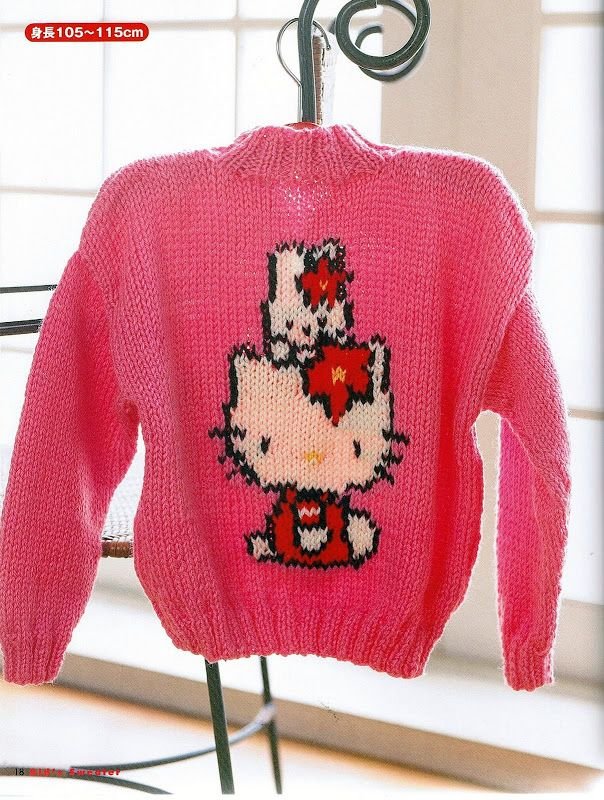 Knitting Pattern For Hello Kitty Sweater : 93 best Hello Kitty Patterns images on Pinterest Hello kitty, Hello kitty c...