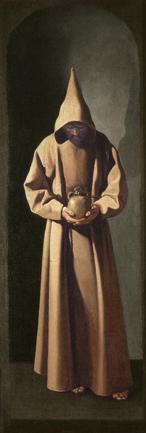 Francisco de Zurbarán. San Francisco contemplando una calavera, c.1635