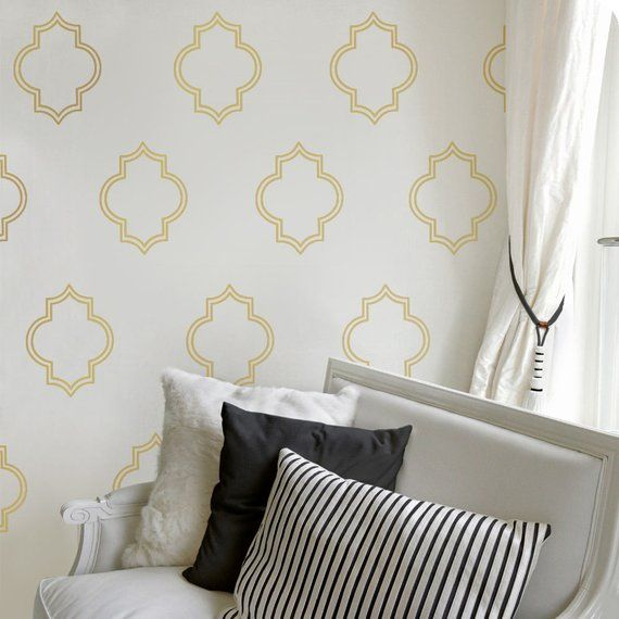 Gold Moroccan Decals Gold Wall Decal Living Room Decor Gold