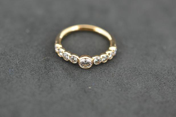 0.83 Carat F Colour set in  18ct Rose Gold #RoseGold #PlatinumCork