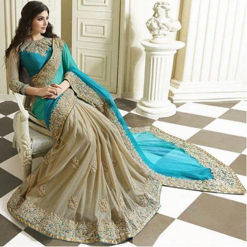 Half and half saree