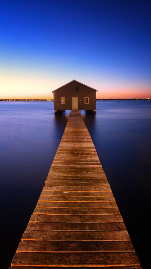 Crawley Boat Shed, Swan River, Perth, Australia #australia